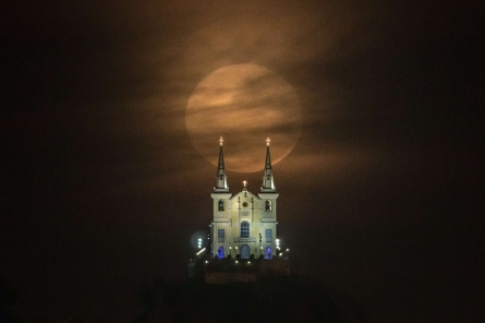 Penha Church in Rio de Janeiro, Brazil. (Yasuyoshi Chiba/AFP/Getty Images)