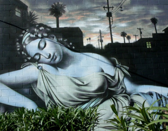 Phoenix Goddess mural by El Mac 2