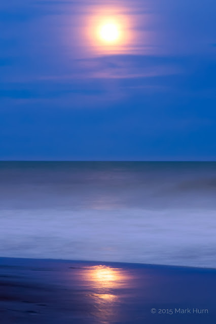 Moon over south atlantic iv, carilo, argentina, long exposure
